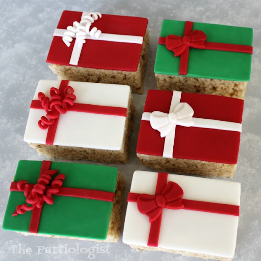 Rice Krispie Treats that Look Like Gifts!