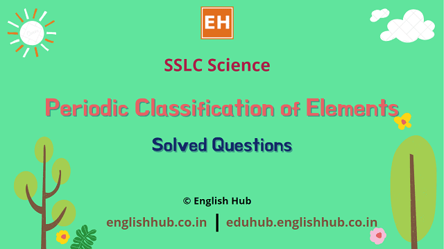 Periodic Classification of Elements | Solved Questions