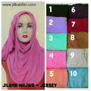 jilbab instan najwa bahan jersey