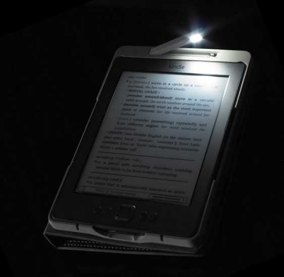 kindle 4 book cover/case With Built-in LED Light Black From
