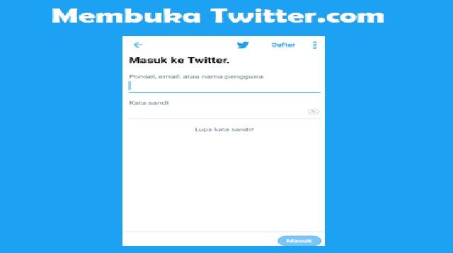 Pembahasan Cara Mengetahui Password Atau Kata Sandi Twitter Orang Lain Lewat HP