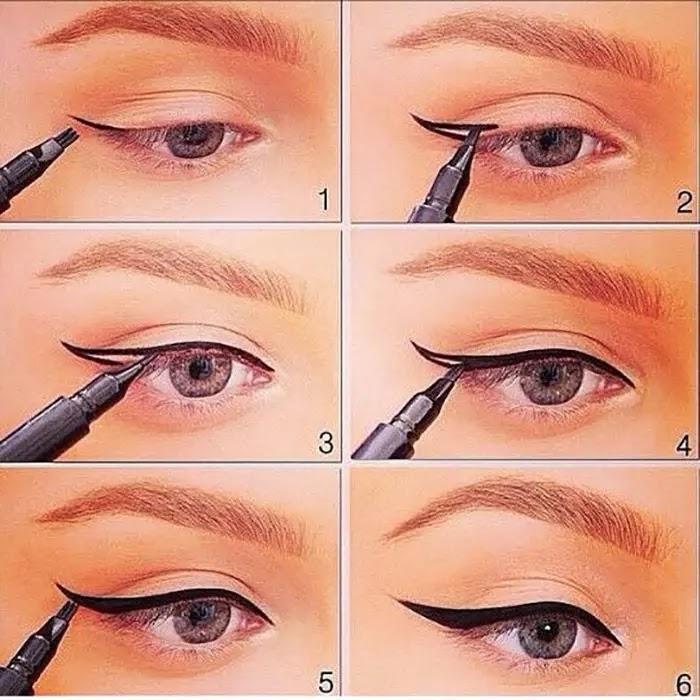 طريقة  رسم عيون مجنح مثالي وأنيق