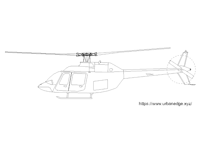Helicopter bell 206B free elevation cad block download