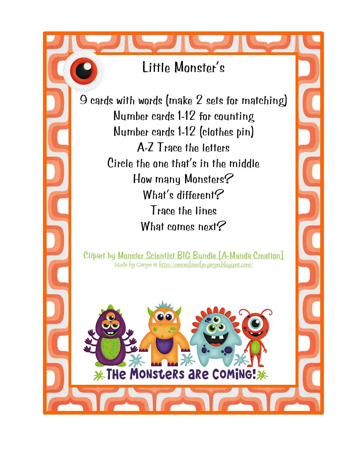 Preschool Printables April