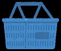 買い物かごのイラスト(青)