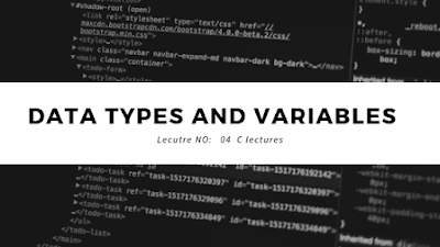 C programming Variable and datatypes