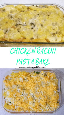 This  chicken bacon potato pasta bake is a family's favorite. Made with cooked pasta, cooked potatoes, chicken and bacon and mixed with 3 different types of cheese - Knorr cheese sauce, mozzarella cheese and cheddar cheese. This cheesy pasta bake with chicken and bacon is more than capable of satisfying a family
