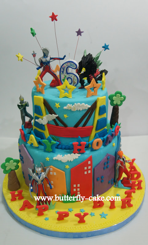 Butterfly Cake Ultraman Cake For Ray Hong