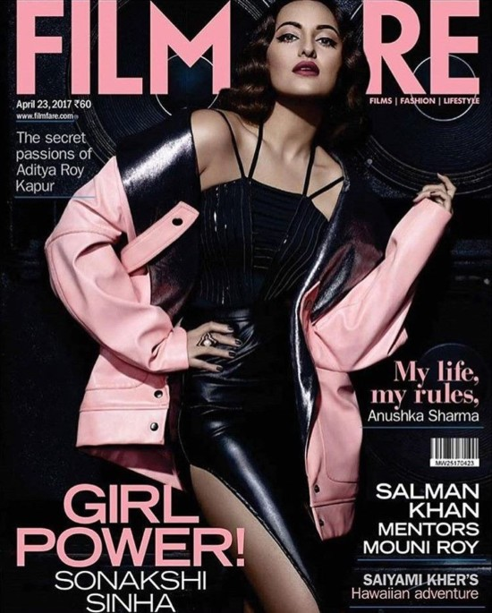 Sonakshi Sinha On The Cover Of Filmfare Magazine India April 2017