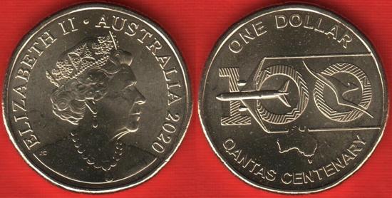 Australia 1 dollar 2020 - QANTAS Centenary