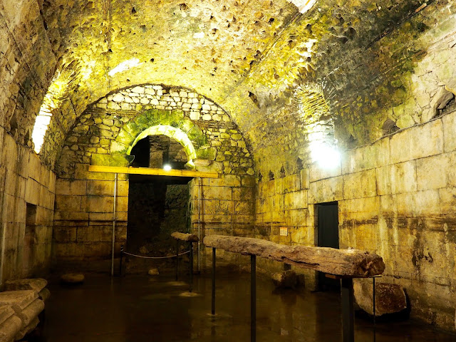 Basements under Diocletian's Palace, Split, Croatia