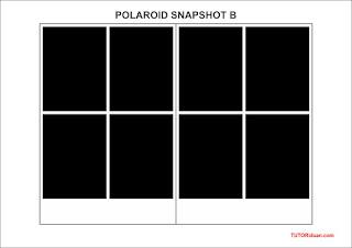 Layout Foto Polaroid SNAPSHOT B