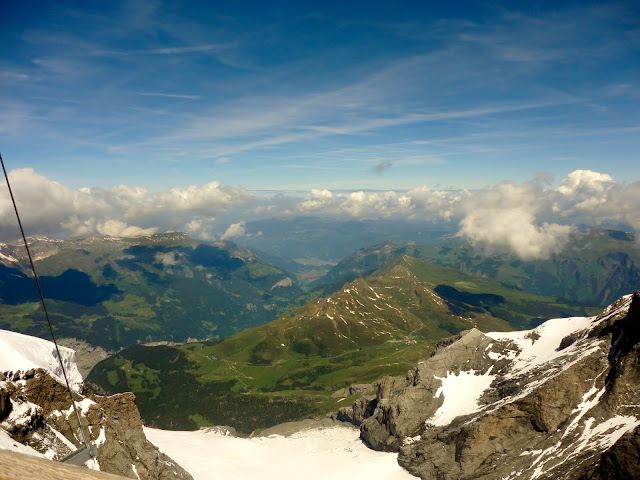 View of the Alps from Jungfrau, Switzerland