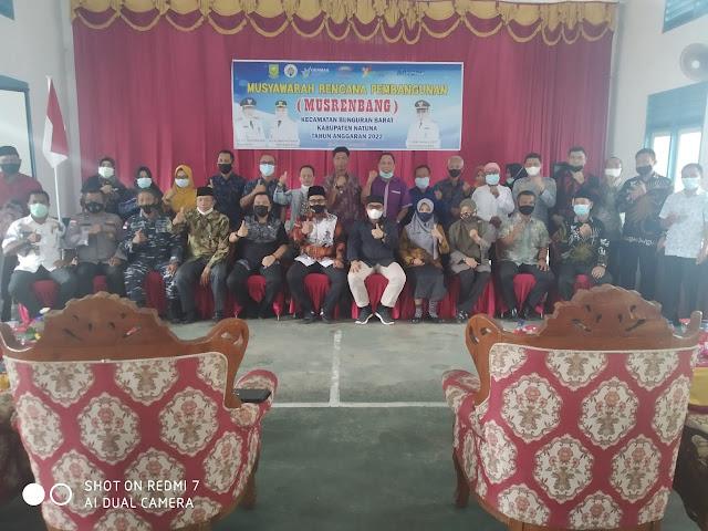 Ketua Komisi II DPRD Natuna Hadiri Musrenbang Tingkat Kecamatan Bunguran Barat