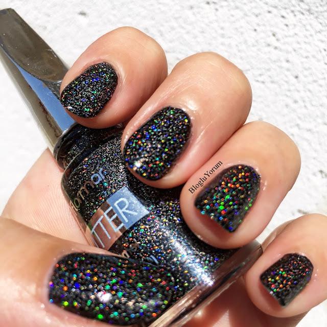 flormar glitter gl10 blackstar oje 1