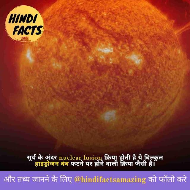 About Sun In Hindi - सूरज के बारे मे जानकारी और रोचक तथ्य