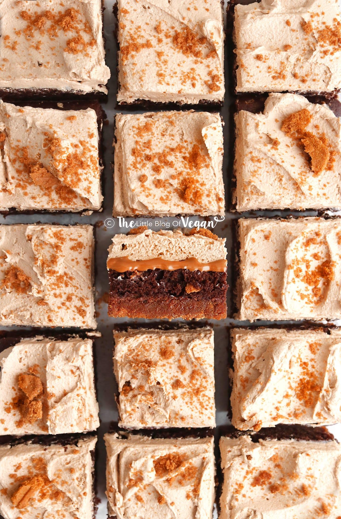Vegan-Biscoff-Brownies