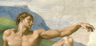 "Adam; from the painting ""The creation of Adam"" by Michelangelo"