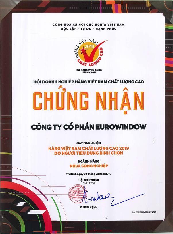 Cửa Eurowindow-Chứng Nhận