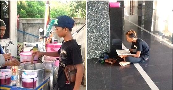 Pedagang Cilok Bertampang Sangar yang Ternyata Penghafal Al-Qur'an