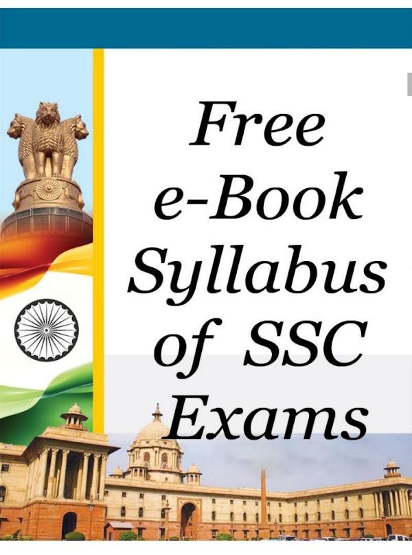 Free ebook syllabus for SSC CGL exam