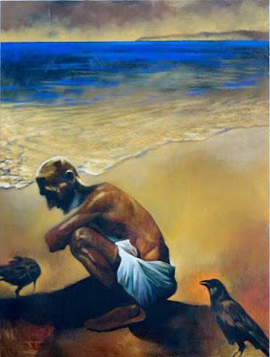 AtTheSeaShore-Oil-RBabu-HuesnShades