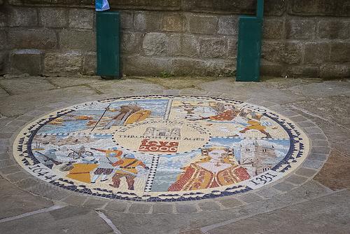 Things to do in Knaresborough - Knaresborough Castle mosaic