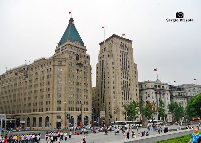 World Expo Complex, Bank of China Building and the Old Yokohama Specie Bank Building - Shanghai