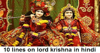 10 lines on lord krishna in hindi
