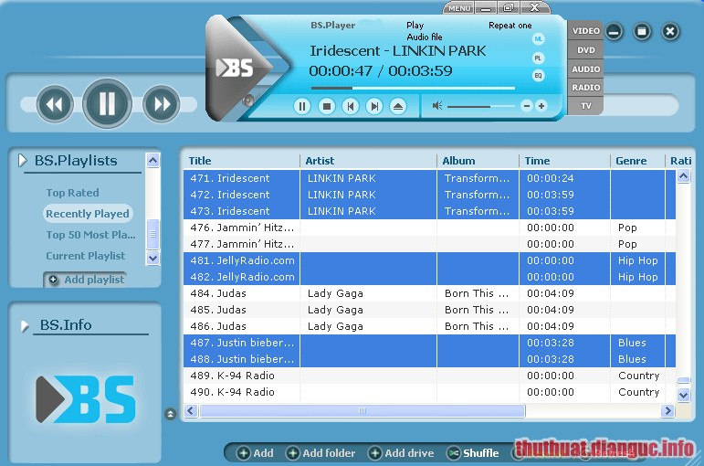 Download BS.Player Pro 2.74 Build 1085 Full Crack