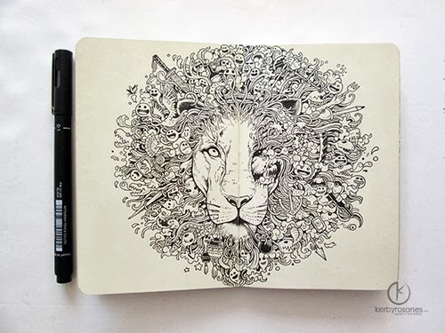 11-The King's Awakening-Filippino-Artist-and-Illustrator-Kerby-Rosanes-Pen-Doodles-www-designstack-co