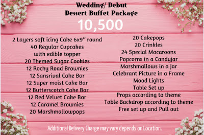 Wedding Dessert buffet Package 10,500