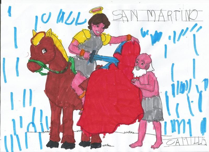 Studiamando liberamente san martino for Disegno cavallo per bambini