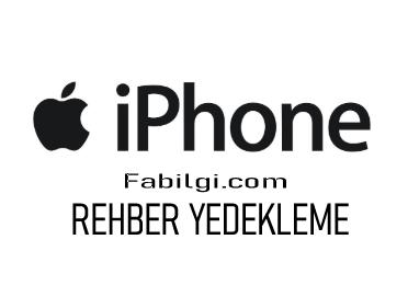iPhone Rehberi Sim Kartına Aktarma Yöntemi V-Card Vcf Yedekleme
