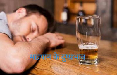 मद्यपान के दुष्प्रभाव
