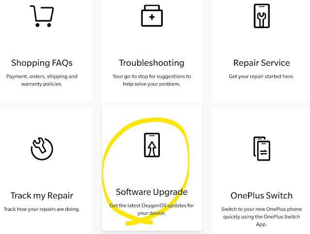 Oneplus官網-軟體升級