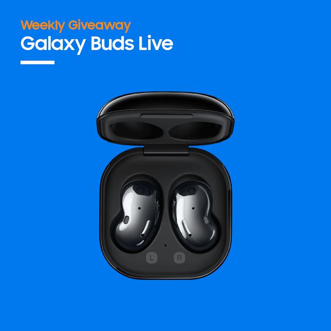 Sorteio! Concorra a um fone de ouvido sem fio Galaxy Buds Live