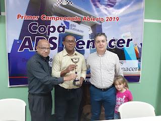 Paul Abreu Campeón de la Primera Copa de ajedrez ARS Renacer 2019.