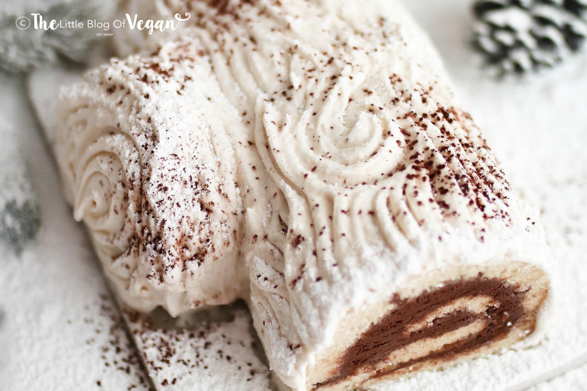 Vegan White Chocolate Yule Log