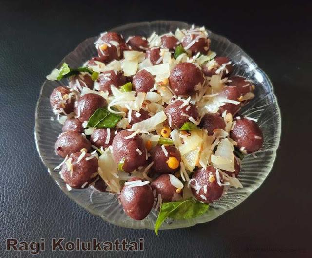 images of Ragi Ammini Kozhukattai / Ragi Kozhukattai / Mani Kozhukattai / Ragi Kolukattai Recipe / Ragi Ammini Kolukattai / Savoury Ragi Dumplings / Steamed Finger Millet Dumplings - Millet Recipes