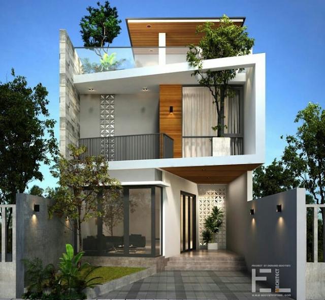 Rumah Lantai 3 yang Natural