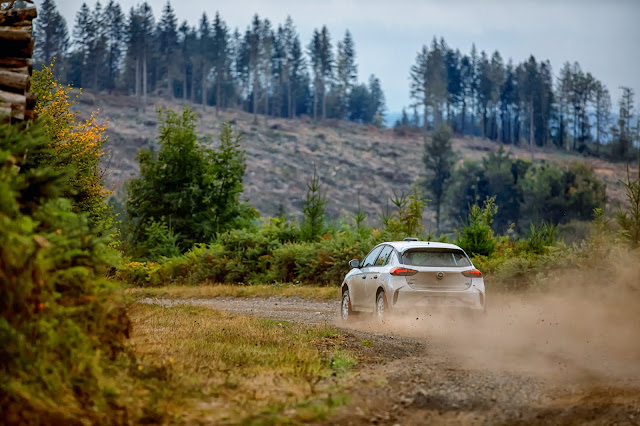 Opel Corsa R4 Rally Car Gravel Stage Testing