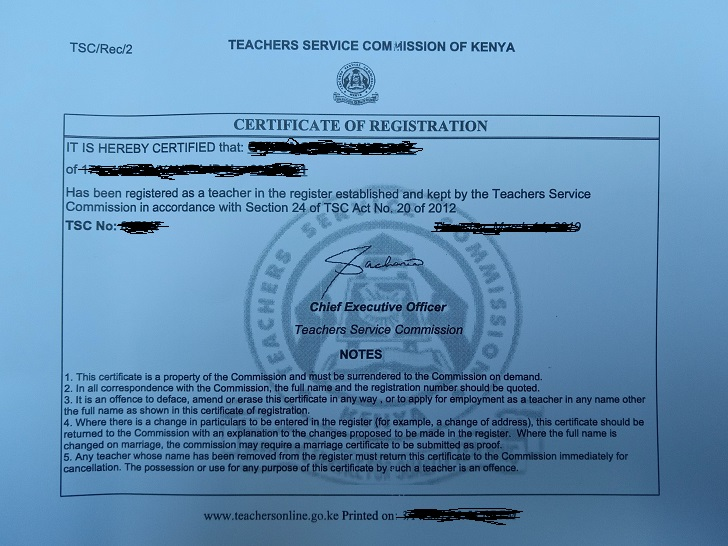 How to Apply for TSC Number Online (Teacher Registration Certificate)