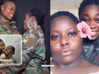 Bathroom Video of Ghanaian lesbian Couple Soldiers  Hits Online