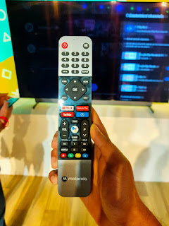 Motorola remote, netflix, google play and youtube seperate button