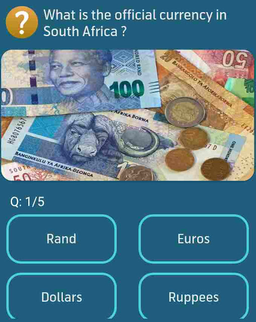 What is the official currency in South Africa?