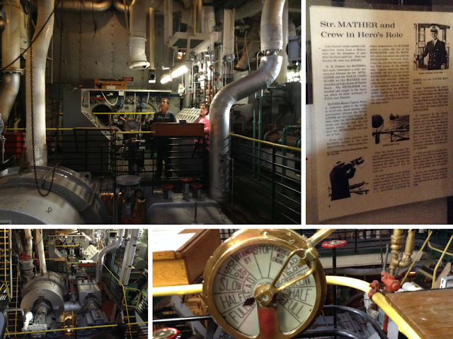 More of the engine room on the Mather at Great Lakes Science Center