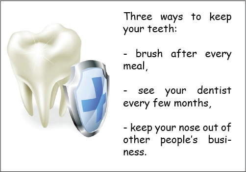 three ways to keep you teeth