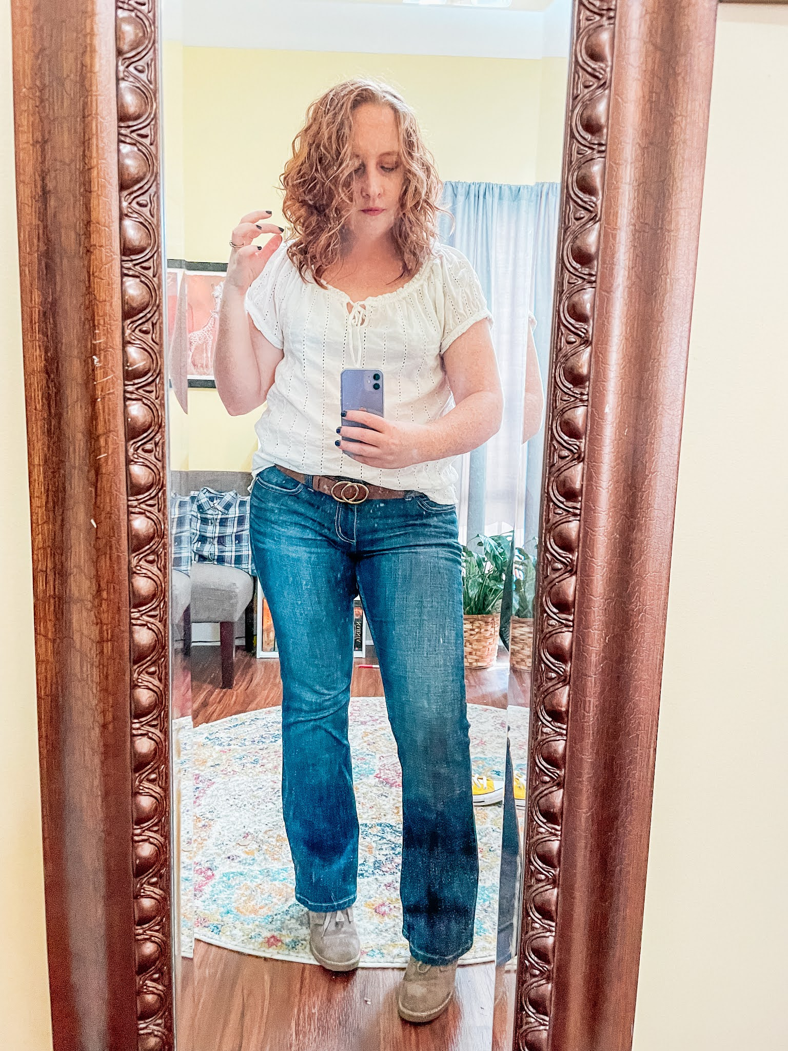 eyelet-top-bootcut-jeans