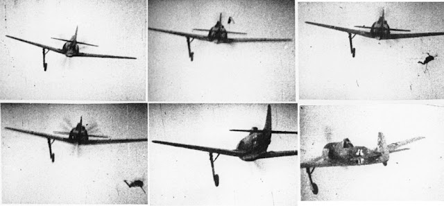 Gun camera footage of an Fw 190 being shot down in May 1942 worldwartwo.filminspector.com